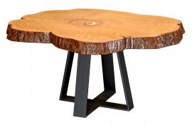 Countryside Rustic Log Live Edge Rustic Table