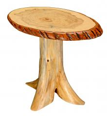 Countryside Rustic Log Rustic End Table