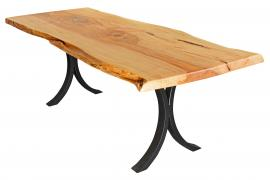 Countryside Rustic Log Live Edge Dining Table