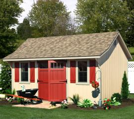 B&B Structures Elite Cape Storage Shed