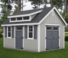 B&B Structures Elite Dormer Storage Shed