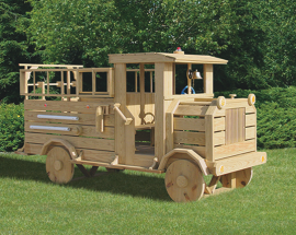 Kinzer Woodworking Fire Truck Play Set