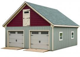 J&N Structures Garage with Loft
