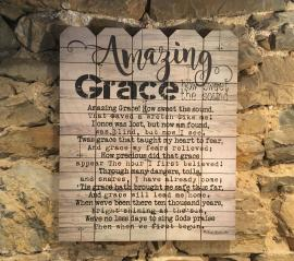 Eastside Frames Amazing Grace Wood Panel Print