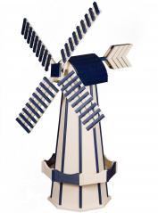 Beaver Dam Woodworks Ivory and Navy Blue Windmill