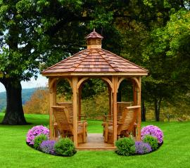"Kinzer Woodworking ""Kinzer"" Gazebo w/ 4 Gliders"