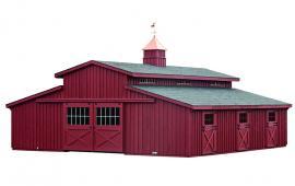 J&N Structures Modular Horse Barn