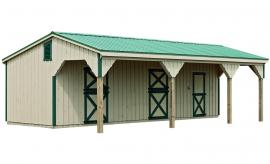 J&N Structures Lean-To Horse Barn