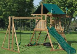 D&S Woodworking Model 1602 Wood Play Set