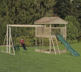 D&S Woodworking Model 203 Wood Play Set