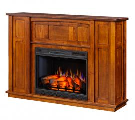 Elm Crest Furniture Panel Mission Electric Fireplace Mantle
