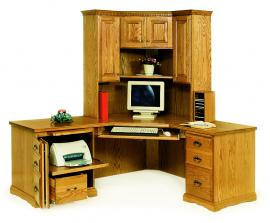 Rocky Ridge Furniture Corner Desk with Hutch