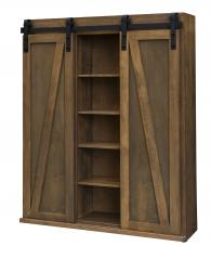 Mt. Eden Woodworks Sliding Barn Door Bookcase