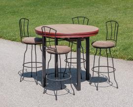 Morris Hill Metal Outdoor Poly Pub Set