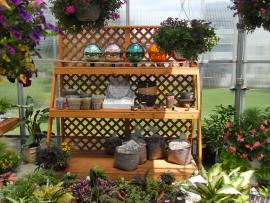 Smucker's Woodcrafts Garden Center Display Shelves