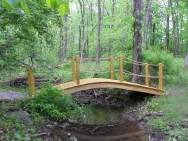 Smucker's Woodcraft Wood Garden Bridge