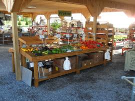 Smucker's Woodcraft Produce Table