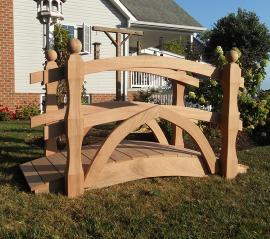 Smucker's Woodcrafts Garden Bridge