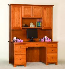 Rocky Ridge Furniture Shaker Desk and Hutch