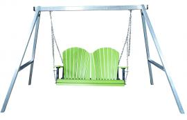 Meadowview Lawn Creations Aluminum A-Frame Swing