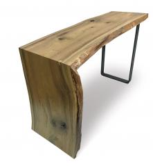 Woodland Heritage Waterfall Desk w/ Metal Band