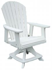 Meadowview Lawn Creations Swivel Dining Chair