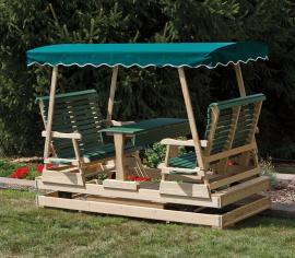 Lawn Swings Wood Keystone Glider