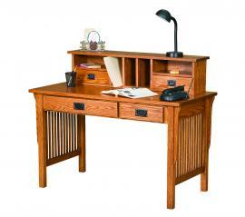 Ames Woodworking Writing Desk w/ Desk Top Organizer